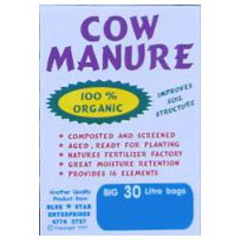 Cow Manure - aged and composted (30 Litres)